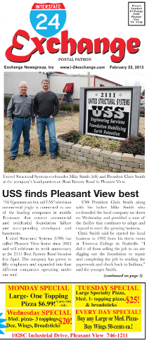 United Structural Systems featured in I-24 Exchange