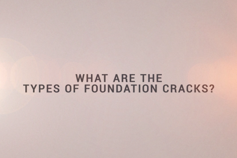 "Dark text on light background: ""What are the types of foundation cracks?"""